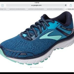 Brooks GTS      Teal and blue.